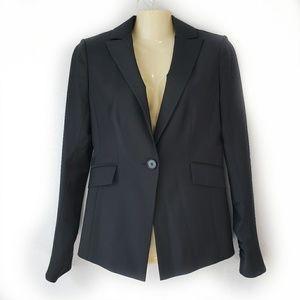 ANN TAYLOR | Black 1 Button Blazer